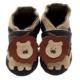chausson cuir soiple lion kenabeo